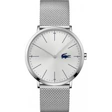 lacoste watches men s moon silver mesh bracelet watch 2010901 lacoste watches men s moon silver mesh bracelet watch