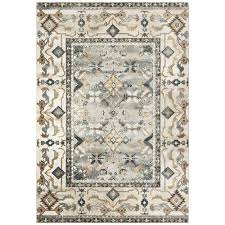 oriental weavers harmony traditional ivory area rug 5 3
