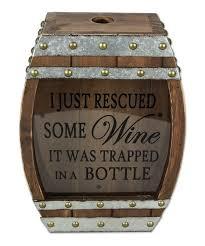 love this some wine wood cork box