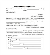 lease agreement sample sample rental agreements property lease templates rental agreements