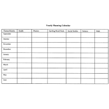 Teacher Curriculum Template How To Create Monthly And Yearly Plans For The Classroom