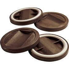 Slipstick Gripper Caster Cups Chocolate 4 Pack