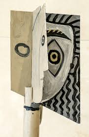 pablo picasso head of a woman painted steel