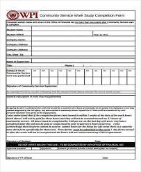 Community Service Form Unique 44 Service Form Formats Sample Templates