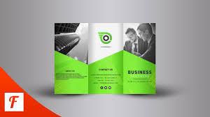 Photoshop Tutorial Professional Tri Fold Brochure Design