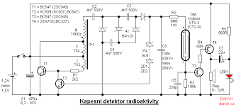 pocket radioactivity detector schematic of homemade radioactivity detector a soviet geiger muller gm tube sts 5 ctc 5