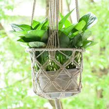 Amazon.com : Macrame Plant Hanger Plant Holder Hanging Plant Pot Basket Rope  Plant Pot Support Macrame Jute Hanging Plant Holders Flower Pot Basket  Hanging ...