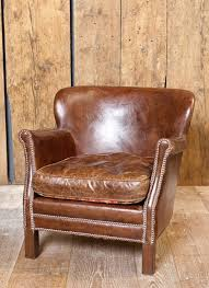 armchair club turner in leather