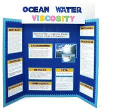 Science Project Fold Board Layout Science Fair Easy Template