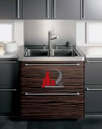 kitchen cabinets modern two tone white dark wood peninsula seating sink