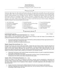 Police Officer Resume Examples From Weeklyresumes Free