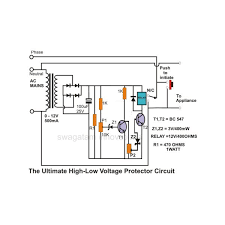how to build simple mains voltage protection circuits low voltage the ultimate high and low voltage protector circuit image