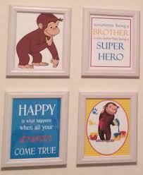 curious george bedding pottery barn room mates favorite characters piece giant wall decal decals and accessories