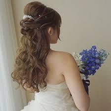 上品で可愛いハーフアップのブライダルヘアカタログ Marryマリー 花嫁
