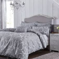 catherine lansfield damask jacquard duvet cover bedspread curtains