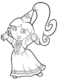 Princess Dora The Explorer Coloring Pages Only Coloring Pages