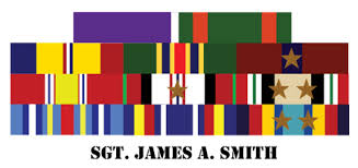 Official United States Military Ribbons Custom Military
