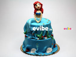 Order Delicious Mermaid Theme Fondant Cake Online Birthday Cake In