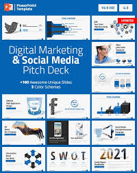 Digital Marketing and Social Media PPT Pitch Deck by Spriteit | GraphicRiver