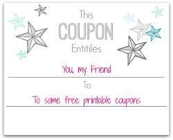 Make A Printable Coupon Make Your Own Christmas Coupons Free Printables Home Is Where