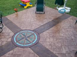 stained stamped concrete patio. Stained Stamped Concrete Patio