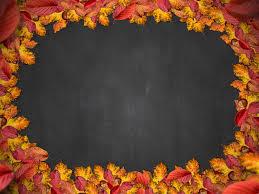 free autumn leaf frame with chalkboard background