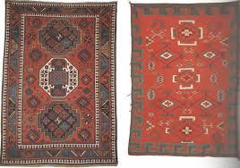caucasian rug used as navajo rug template