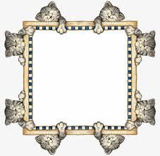 Decorative Text Boxes Cat decorative square text box Kitty Decorative Frame Square 47