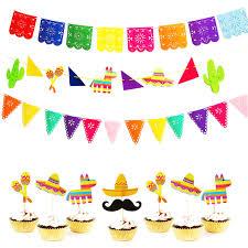 <b>Omilut</b> Mexican <b>Party</b> Decoration Banner LLama <b>Party</b> Cactus Hat ...