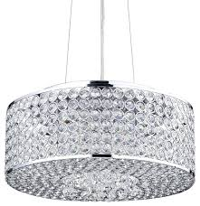 drum crystal chandelier round drum crystal shade chandelier chrome contemporary for awesome residence chrome drum chandelier