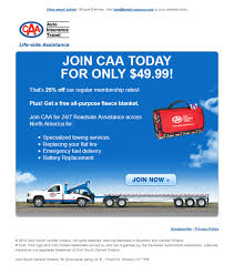 caa membership insurance email marketing