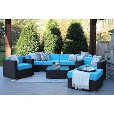 modern patio furniture. Hiawatha 8 PC Modern Outdoor Rattan Patio Furniture Sofa Set Modular  C84cb88 Bab5 4f75 B715 1d8cbb659bb7 Modern Patio Furniture U