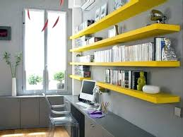 office desk shelves amazing of narrow office desk long narrow yellow home  office shelves over the
