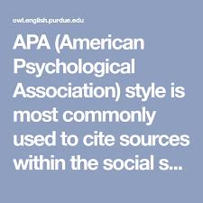 American Psychology Association Format Apa American Psychological Association Style Is Most Commonly Used