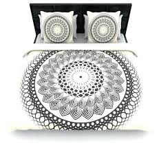 famenxt black and white boho mandala geometric duvet cover queen 88boho