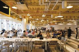 google office spaces. google office space the bustling cafeteria spaces