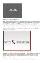 Weitz Luxenberg Zofran Birth Defect Cases Being Accepted By Weitz Luxenberg