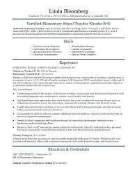 Student Teacher Resume Elementary School Teacher Resume Template