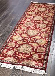 rugsville persian treasures isfahan tomato red runner rug 60x243