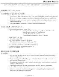 Resume It Professional Susanireland 6 English Teacher Sample Resume Resume For An Esl Teacher