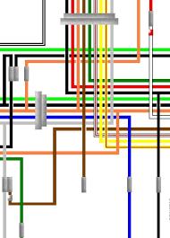 suzuki ts usa spec colour wiring harness circuit diagram suzuki ts75 1974 usa spec colour wiring diagram