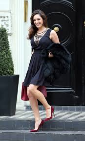 You know how much i love baking. Kelly Brook In A Little Black Dress And Red High Heels Only In High Heels