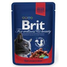 Корм для кошек <b>Brit Паучи Premium</b> (говядина с горошком ...