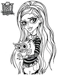 Coloring Page Monster High Blue Coloring Pages Monster High Coloring