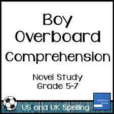 best boy overboard images booklet  boy overboard comprehension