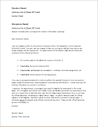 Letter Of Offer Template Job Offer Letter Template For Word Word Excel Templates
