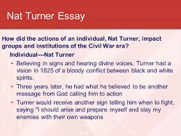 the civil war a nation divided ppt video online  29 nat turner essay