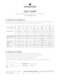 Swarovski Ring Size Chart Sizeguide A4 Pdf Articles News Stories