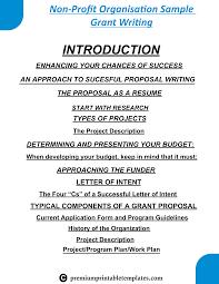 Sample Budget Plan For Non Profit Non Profit Organisation Sample Template