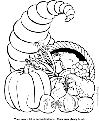 Small Picture Printable Happy Thanksgiving Cornucopia Color By Number page